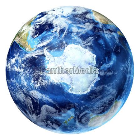 earth globus realistische 3d rendering mit