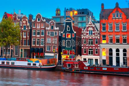 night by udsigt over amsterdam kanalen