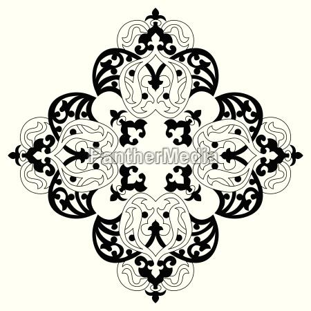 antik osmannisk tyrkisk vektor design to