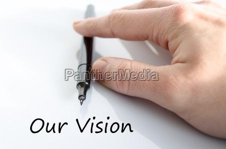 vores vision tekst koncept