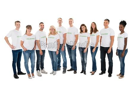 portraet af tillid frivillige staende i