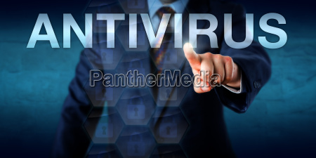 manager, touching, antivirus, on, a, screen - 15796595