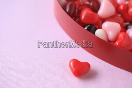 valentine hjerte slik med kopi plads