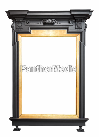 golden picture frame in a standing