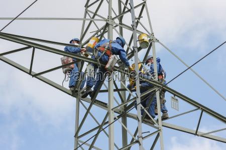 industri mekaniker beskyttelsesbeklaedning bjergbestiger farlige arbejde