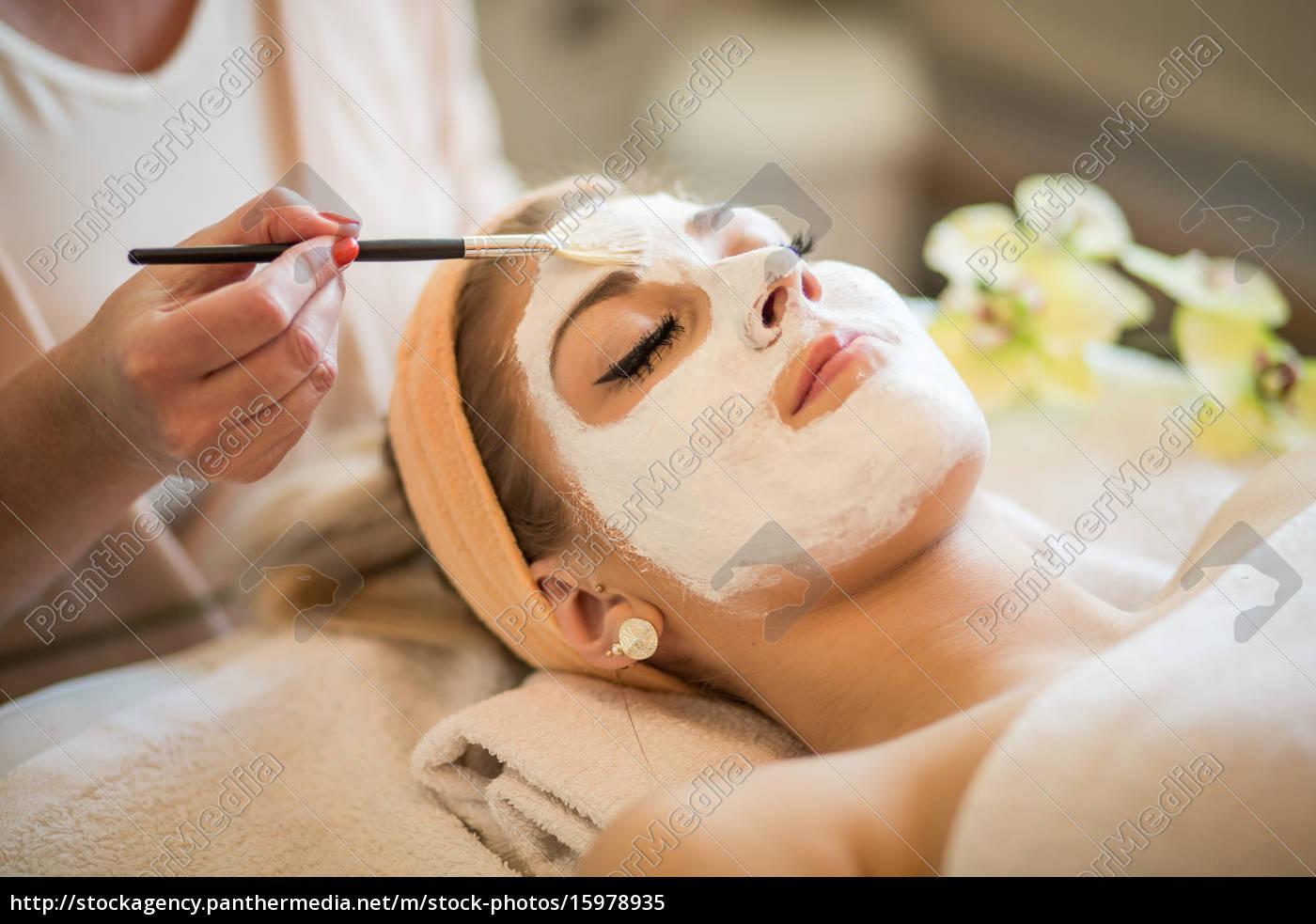 kvinde, med, ansigtsmaske - 15978935