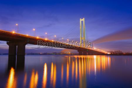 kiev south bridge i den bla