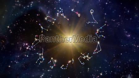 stjernetegn med sol