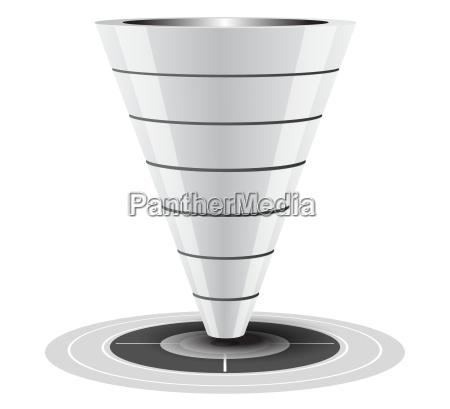salg eller konverteringskanalvector graphics