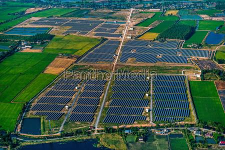 solar farm solar panels photography from