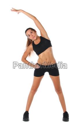 glad ung kvinde bedrift gor motion