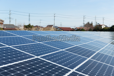solar panel and power distribute line