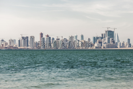 skyline of manama city bahrain