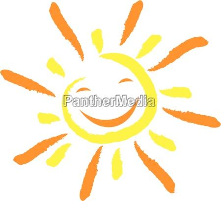 sol og smilansigtlatter