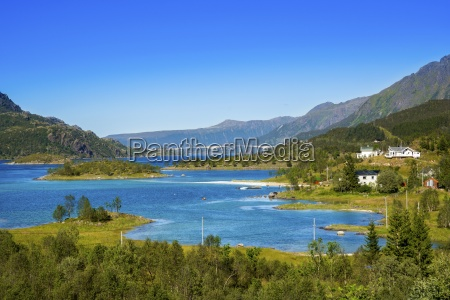 norway lofoten vestvagoey view to trollfjord