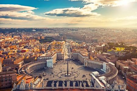 luftfoto af rom fra sankt peters