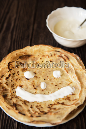 stegt velsmagende smilende pandekager