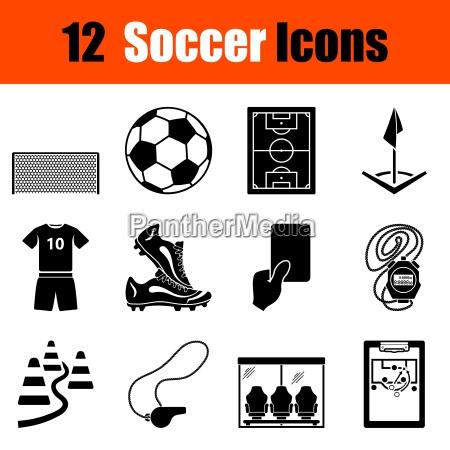 saet med fodbold ikoner