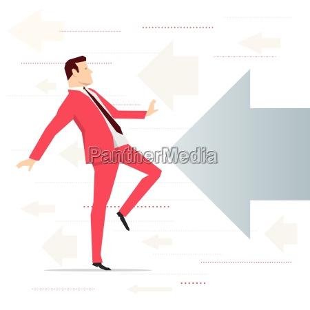 red suit forretningsmand