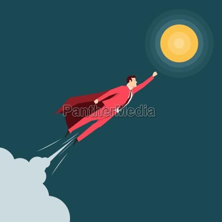 red suit forretningsmand super helt vektor