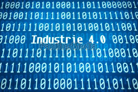 binaer kode med ordet industrien 40