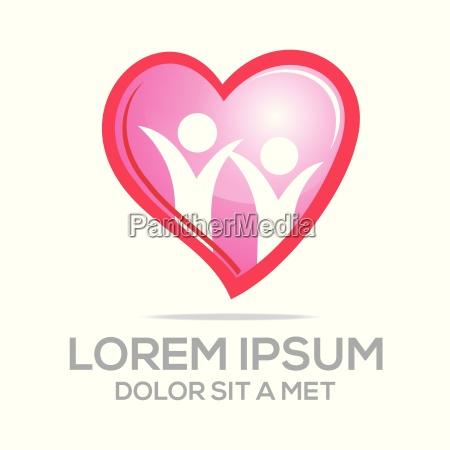 logo kaerlighed vector mennesker hjerte