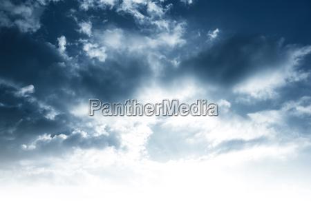 skyet himmel baggrund