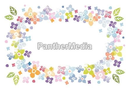 farverig blomster ramme
