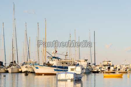 italy sicily pachino boats at harbour