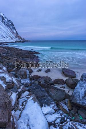 norway lofoten myrland beach fiords and