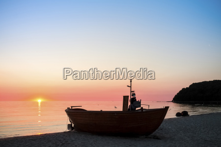 germany ruegen binz beach with fishing