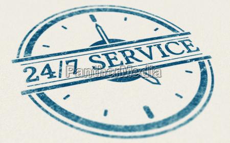 service altid aben 24 timer og