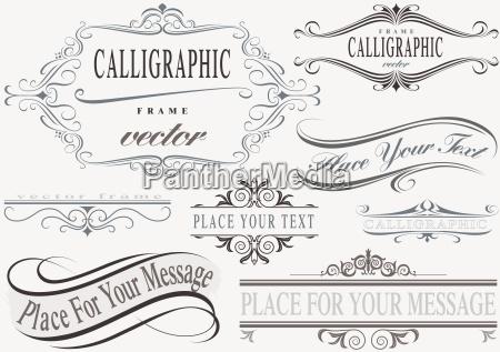 kalligrafiske frame set
