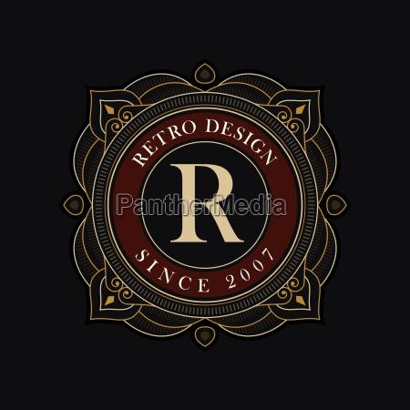 vektor luksus emblem designskabelon