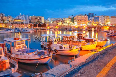 night old harbour of heraklion kreta
