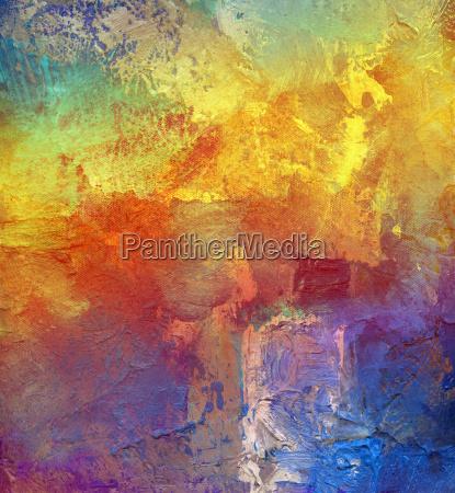 maleri farvet pastos regnbue