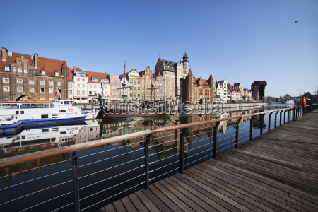 poland gdansk view to the old