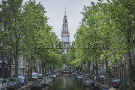 netherlands amsterdam groenburgwal and zuiderkerk