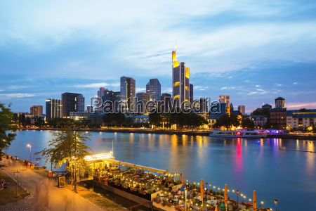 germany hesse frankfurt financial district and