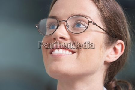 close up portrait of business woman