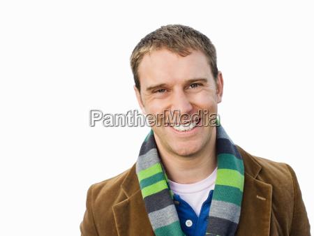 portrait of man smiling at camera