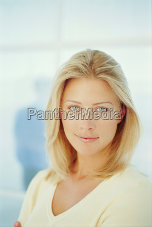 close up of womans smiling face