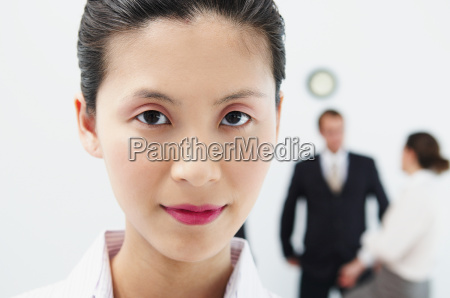 portrait of woman people behind