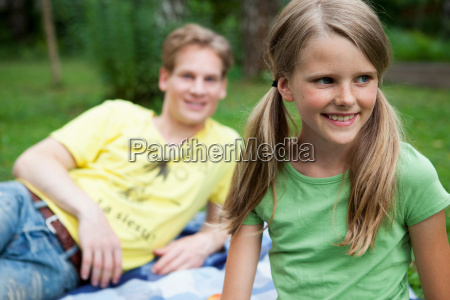 girl with her older brother