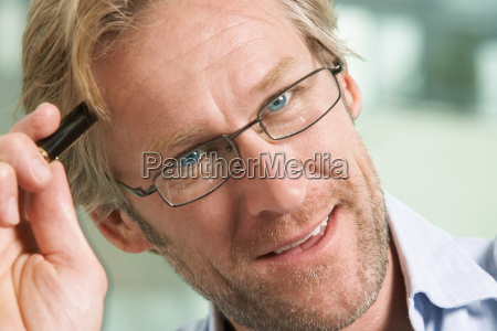 close up portrait of businessman