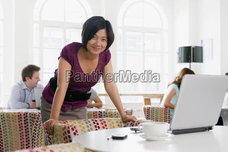 portrait of female vietnamese in office