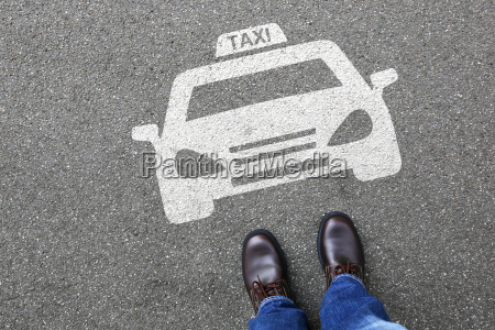 mand taxi bil tegn skilte koretoj