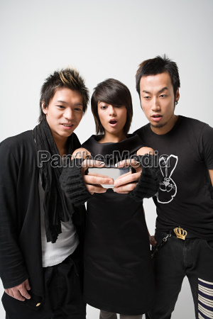 three young japanese people