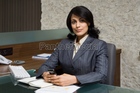 indian businesswoman in office