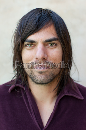 portrait of mid adult man in